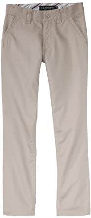 U.S. Polo Association School Uniform Big Girls'  Twill Skinny Pant, Khaki, 8