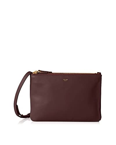 Celine Women's Leather Cross-Body, Purple