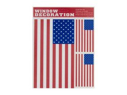 USA American Flag - Static Cling - Peel and Place Window Decorations