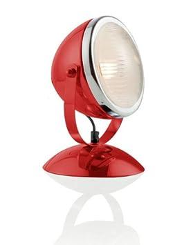 Brandani Lampada Da Terra.Brandani Lampada Touch Fanale Rossa Metallo Vetro Si Accende