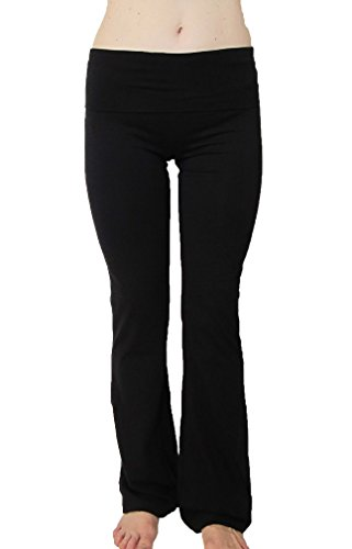 Popular Basics Women's Cotton Yoga Pants With