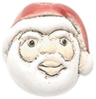 Shipwreck Peruvian Hand Crafted Ceramic Santa Head Beads, 12mm, White/Red, 4 Per Pack (Ceramic Santa Head compare prices)