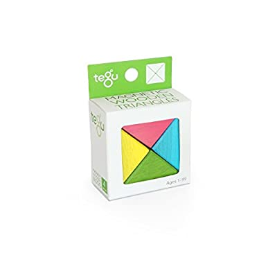 Tegu Magnetic Wooden Block Tints Triangles Set (4 Piece)