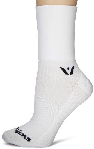 Swiftwick Performance Four Socks, White, Medium