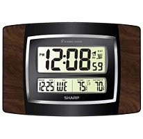 Atomic clock Sharp SPC900WG Digital Atomic Wall Clock Large Numbers and Wireless Indoor/outdoor Temperature at Sears.com