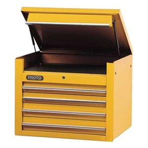 Tool Chest, 34 In, 4 Dr, Yellow