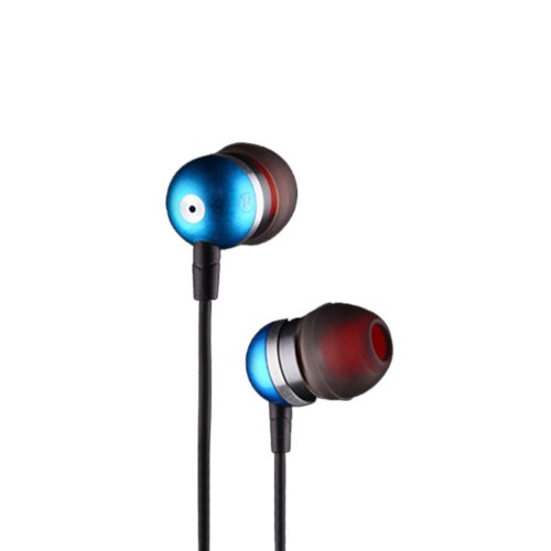 Zps Sades E200 Metal Bass Headphone Earphone Earbuds With Mic For Cell Phone (Blue)
