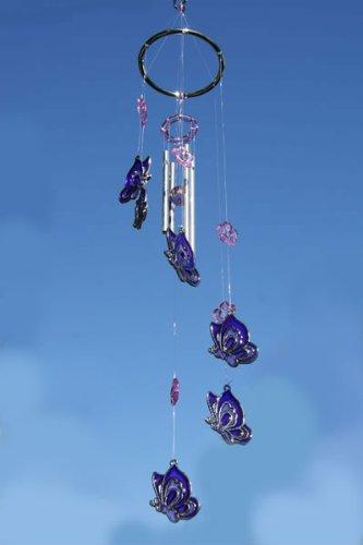 Purple Butterflies Wind Chime