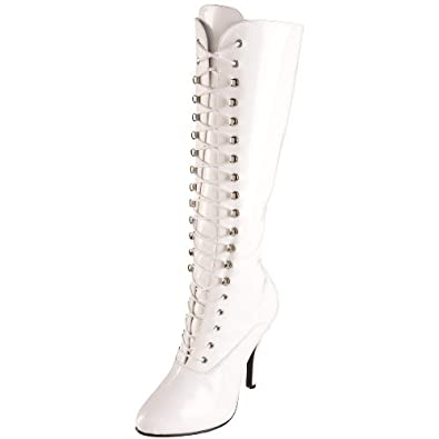 Funtasma by Pleaser Women's Arena-2020 Knee-High Boot,White Patent,6 M US