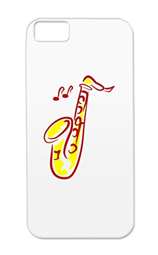 Saxophone Rugged For Iphone 5C Red Studio Music Jazz Stage Music Recording Reop Microphone Sound Engineering Case Cover