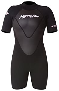 Hyperflex Wetsuits Women's Access 2.5mm Spring Suit,Black/Black,8