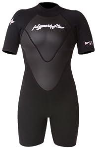 Hyperflex Wetsuits Women's Access 2.5mm Spring Suit,Black/Black,8