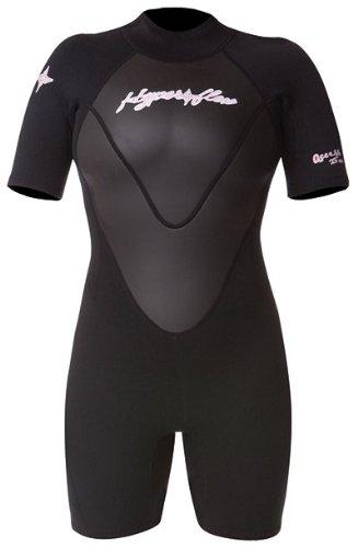 Hyperflex Wetsuits Women's Access 2.5mm Spring Suit, Black/Black, 10 - Surfing, Windsurfing & Kiteboarding