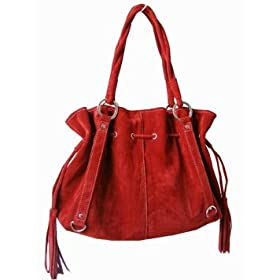 Suede Feel Paris Satchel/Handbag - 2 Hot colors available - Free Shipping