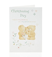 Forever Friends™ Christening Day Card