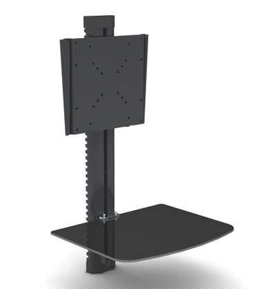 "Mount World 1429 Tv Wall Mount Bracket With Dvd Component Glass Shelf For 22"" 26"" 32"" 37"" Lcd Led Vesa 200X200 200X100 100X100 75X75 50X50"