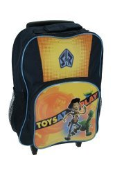 Disney Toy Story - Sheriff Woody, Rex and Alien Wheeled Bag with Front Zip Pocket and Side Pockets!