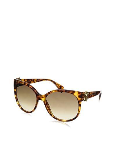 Alexander McQueen Women's AMQ 4245/S Havana/Brown Gradient Sunglasses
