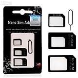 4in1 Sim Card Adapter-Nano To Micro,Nano To Regular,Micro To Regular +Pin(N1030)