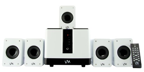 VM Audio EXMS510 600W 5.1 Home Multi Media Surround Sound Speakers System USB/SD