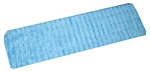 "impact products inc lwbs18-90 18"", Blue, Microfiber Flat Wet Mop With Scrubbing Strips"