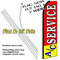 A/C Service Feather Banner Flag Kit (Flag and Pole)