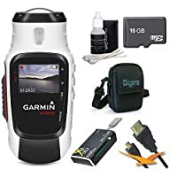 Garmin VIRB Elite Action Camera 010-01088-10 Essentials Bundle with 16GB Micro SD Card, HDMI Cable, All in One Card Reader, Carrying Case, and Lens Cleaning Kit by Garmin