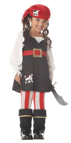 Precious Lil' Pirate Girl's Costume,Toddler L (4-6) , Toddler