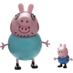Peppa pig pack 2 figurines george et papa cochon jeux et jouets - Jeux de papa pig ...