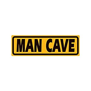Man Cave Yellow Street Embossed Tin Sign