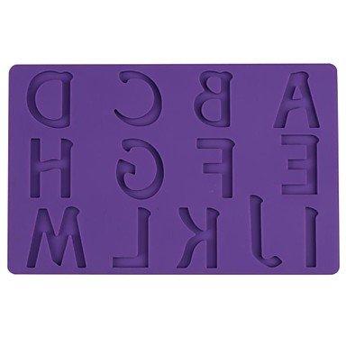 LLsai Lace Gumpaste Mat DIY Baking Silicone Pad Top 13 Capital Letters Turn Sugar Cake Mould Sugar Art Tools