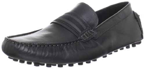 Steve Madden Men's Marra Slip-On, Black Leather, 11 M US