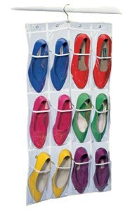 12 Pocket Hanging Shoe Bag- Shoe Organizer