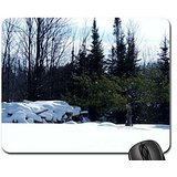 Firewood For Winter Mouse Pad, Mousepad (Winter Mouse Pad)