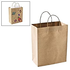 Craft Gift Bags - Brown Paper 1 dozen