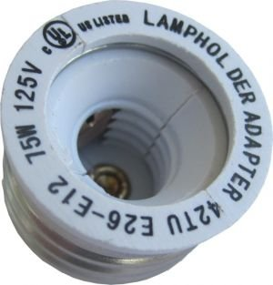 Pack Of Four (4), E26 To E12 Lamp Base Convertor Ul Approved