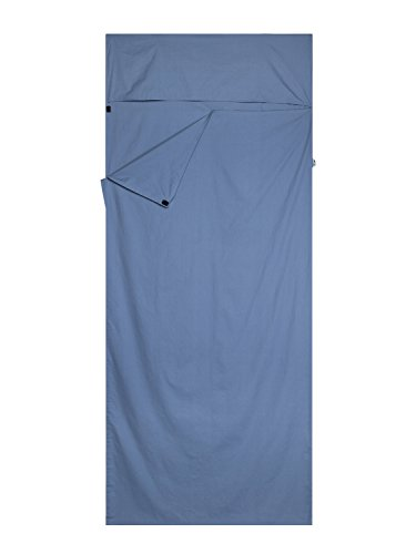 Emins Outdoor Sleeping Bag Liner Travel and Camping Single Compact Cotton Sleepsack Rectangle Sheet Liner with Insect Shield, 8335IN, Blue (Sleeping Bag Liner Insulated compare prices)