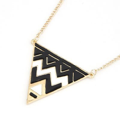 Jewellery Chic Boutique Antique Black White Gold Geometric Aztec Tribal Fashion Jewellery Necklace + Gift Bag