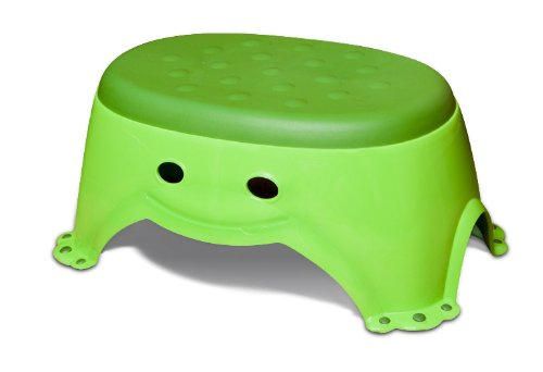 Mommy'S Helper Step Up Non-Slip Stepstool Froggie Collection, Green front-65089