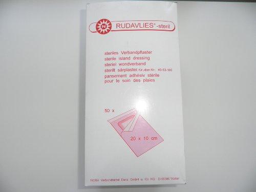 Rudavlies Verbandpflaster 20 cm x 10 cm steril 50 Stück