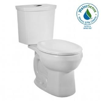 American Standard 2889.216.020 H2Option Siphonic Dual Flush Round Front Toilet, White