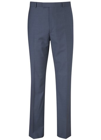 Austin Reed Contemporary Fit Blue Pindot Trouser LONG MENS 38