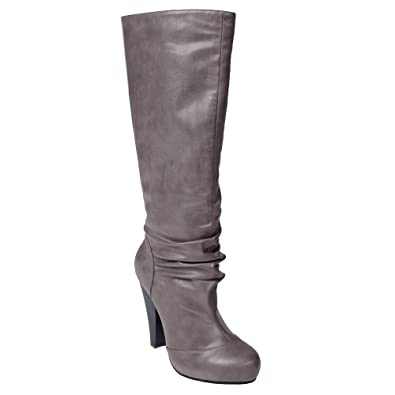 Journee Collection Hidden Platform High Heel Slouchy Boot