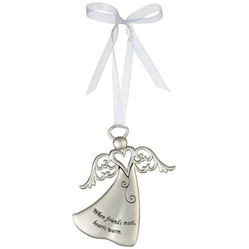 Ganz When Friends Meet, Hearts Warm – Ornament Christmas Angel Gift ER26806-GANZ
