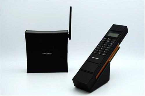 amadana アマダナ コードレス 電話機 ブラック PT-308-BK