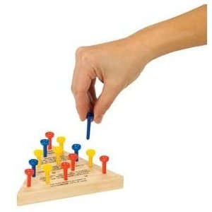 Picture of Toysmith Triangle classic wood puzzle PEG GAME golf tee (B004AFVKLE) (Pegged Puzzles)