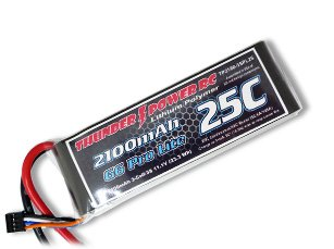 Thunder Power RC G6 Pro Lite 25C 2100mAh 3-Cell/3S 11.1V Lipo Battery