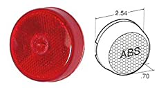 Truck-Lite 10205R Red 10 Series 2-1/2'' Reflectorized Marker & Clearance Lamp