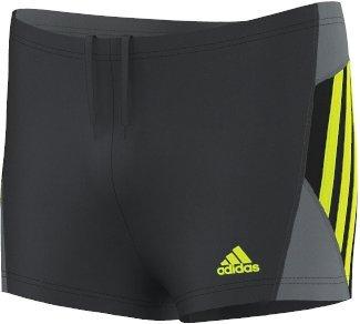 adidas Jungen Badeanzug Inspiration Boxer, Dark Grey/Semi Solar Yellow, 176, S22862