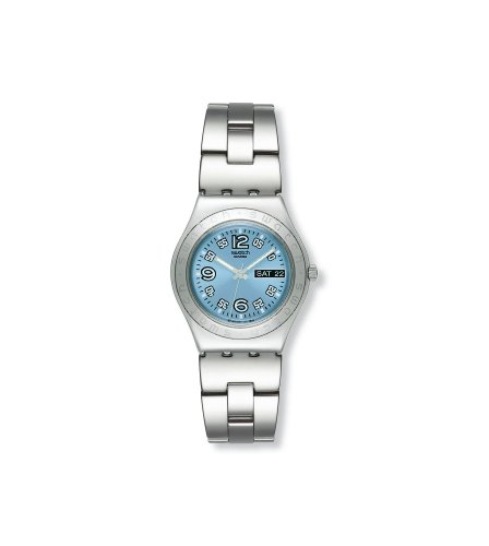 Swatch Ladies Ciel Clair Stainless Steel Bracelet Watch